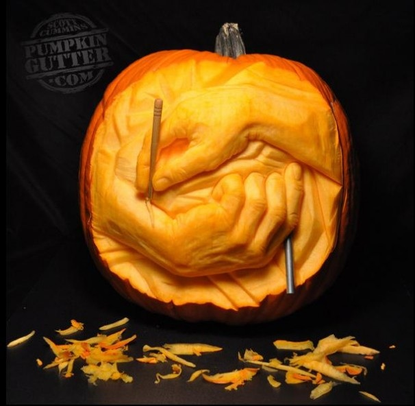 Geeking out awesome pumpkin art this creative life for Awesome pumpkin drawings