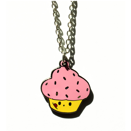Robo Roku Cupcake Necklace
